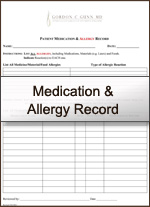 medication allergry record